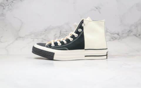 匡威Converse Restructured Chuck 1970 High White公司级版本高帮皮面白黑色补丁拼接解构硫化板鞋原盒原标 货号:168623C