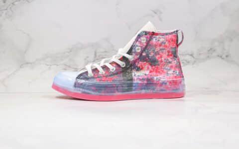 匡威Converse X Shaniqwa Jarvis Chuck Taylor CX联名款公司级版本高帮花卉印花图案果冻底帆布鞋原楦头纸板打造 货号:169071C