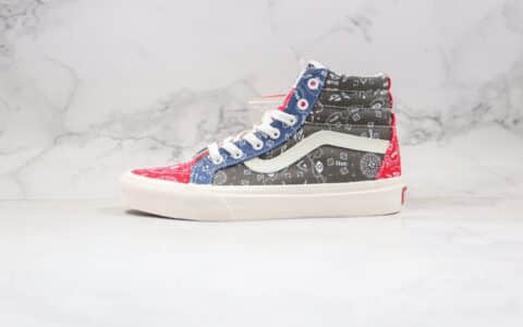 万斯Vans x Rhude Paisüxitley联名款公司级版本高帮腰果花硫化帆布鞋原盒原标原楦头纸板打造
