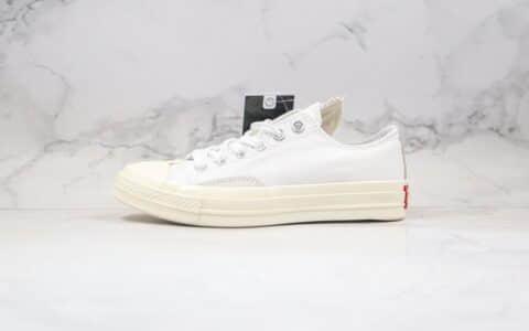 匡威Converse Rivals公司级版本低帮错位LOGO解构硫化板鞋白色原厂硫化大底正确PU硅蓝软中底 货号:168673C