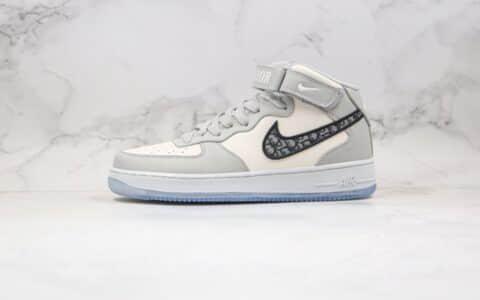 耐克Nike Air Force 1 MID x Dior迪奥联名款纯原版本中帮空军一号板鞋原盒配件齐全 货号:CT1266-700