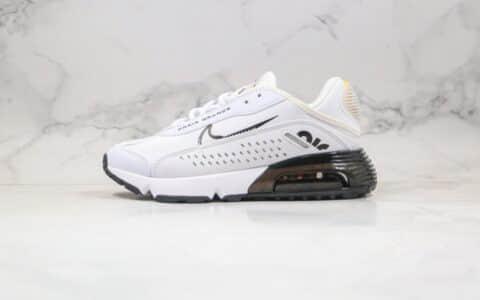耐克Nike Air Max 2090 x Neymar纯原版本内马尔联名款Max2090气垫鞋白黑色正确后跟细节带配件 货号:CU9371-101