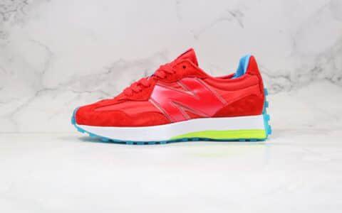 新百伦New Balance 327纯原版本复古慢跑鞋NB327红色原盒原标正确鞋面材质 货号:MS327CDB