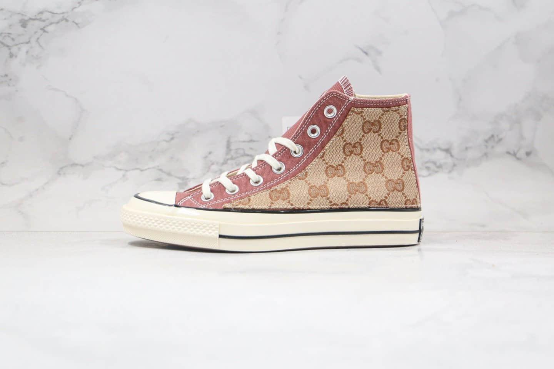 匡威Gucci x Converse 1970S公司级版本古驰联名帆布鞋脏粉拼接原盒