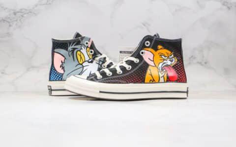 匡威Tom & Jerry x Converse Chuck 70公司级版本猫和老鼠联名板鞋汤姆杰瑞蓝底双围条 货号:165635C