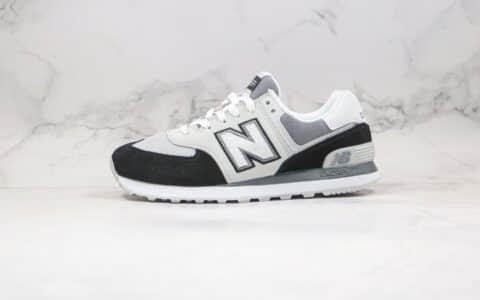 新百伦New Balance 574公司级版本NB574复古慢跑鞋黑白色原盒原标 货号:ML574NLC