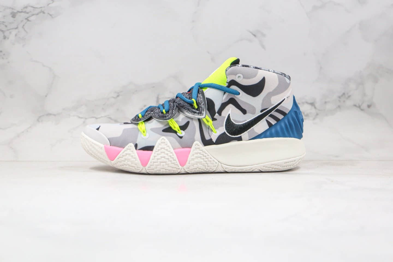 耐克Nike Kybrid S2 EP公司级版本欧文杂交鞋2代实战篮球鞋迷彩灰绿粉色内置气垫 货号:CT1971-005