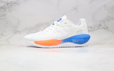 阿迪达斯adidas Originals ZX ALKYNE纯原版本未来球鞋白蓝色(炔)化学元素系列内置巴斯夫缓震大底 货号:FV2315