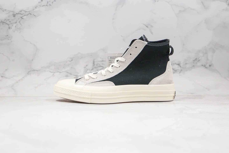 匡威Converse Chuck 1970s Hi Obsidian公司级版本平替FOG帆布拼接麂皮解构板鞋黑色原楦开发 货号:168606C