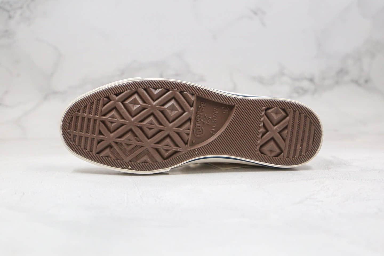 匡威Converse All Star公司级版本联名限定高帮帆布鞋紫外线感光变色腰果花白色正确蓝底双围条 货号:168821C