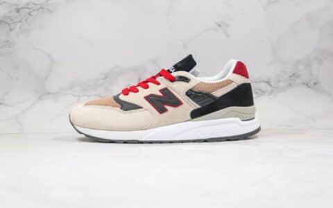 新百伦New Balance 998公司级版本NB998复古跑鞋卡其黑红色原装套楦 货号:M998BCD
