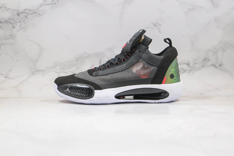 乔丹Air Jordan XXXIV PF纯原版本AJ34实战篮球鞋黑绿色原装大盒 货号:CU3475-001