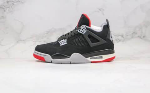 乔丹Air Jordan 4 SE OG纯原版本AJ4黑红色原鞋开模 货号:308497-060