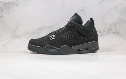 """乔丹Air Jordan 4 """"Black Cat""""OG纯原版本AJ4黑猫原标原盒 货号:CU1110-010"""