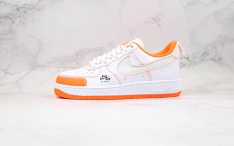 耐克Nike Air Force 1 Premium纯原版本空军一号板鞋3M反光白橙色内置气垫 货号:CV3039-103