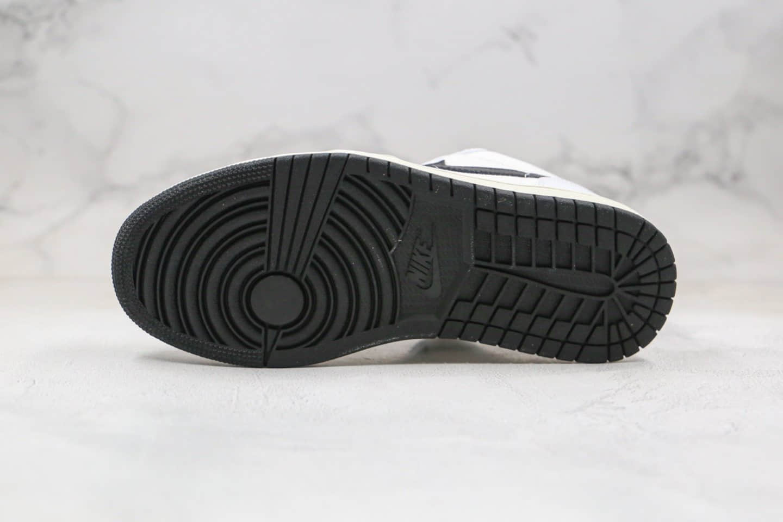 乔丹Air Jordan 1 Low公司级版本低帮AJ1帆布拼接白黑色同步原材料 货号:DC3533-100