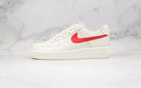 耐克Nike Air Force 1纯原版本空军一号奶白红色内置真sole气垫 货号:315122-126
