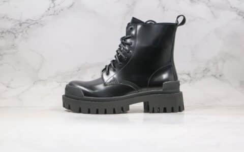 巴黎世家Baenciaga Strike纯原版本2020秋冬新款系带马丁靴黑色原鞋开模全套包装
