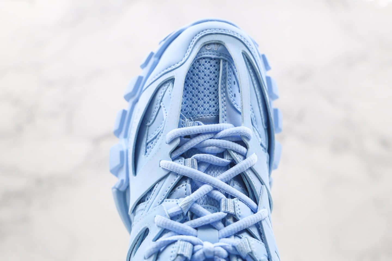 巴黎世家Balenciaga Sneaker Tess s.Gomma纯原版本复古老爹鞋3.0户外概念鞋天蓝色无灯版原装大盒