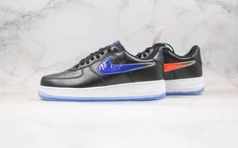 """耐克Nike Air Force 1 Low """" What The NYC""""纯原版本低帮AF1空军一号纽约限定黑蓝橙色内置全掌air sole气垫 货号:CZ7928-001"""