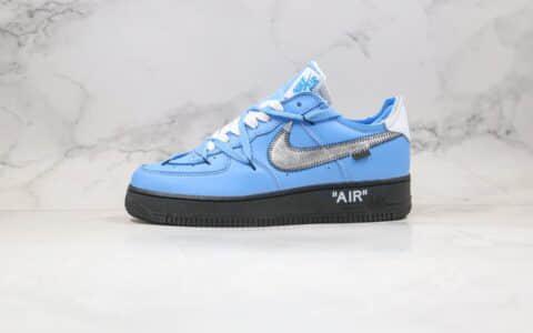 """耐克Off-White x Nike Air Force 1 Low""""MCA Blue""""纯原版本空军一号艺术馆OW联名解构低帮板鞋蓝黑银色内置气垫 货号:CK0866-401"""