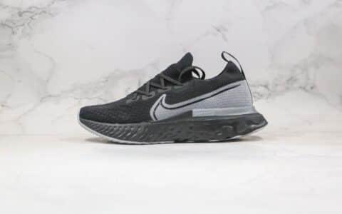 耐克Nike Epic React Flyknit纯原版本瑞亚编织超轻缓震跑步鞋黑灰色原纸板开发楦型 货号:CD4371-001