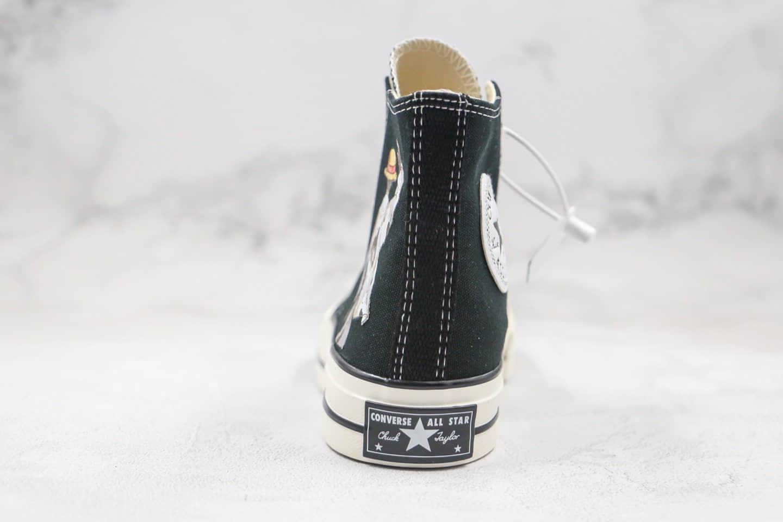 匡威Converse Chuck 70S公司级版本高帮海贼王3.0路飞背影卡通漫画印花图案黑色帆布鞋原长硫化大底 货号:167353C