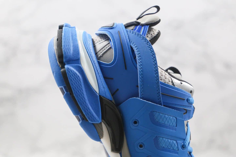 巴黎世家Balenciaga Sneaker Tess s.Gomma MAILLE WHITE ORANGE纯原版本复古老爹鞋三代深蓝色原盒配件齐全原档案数据开发