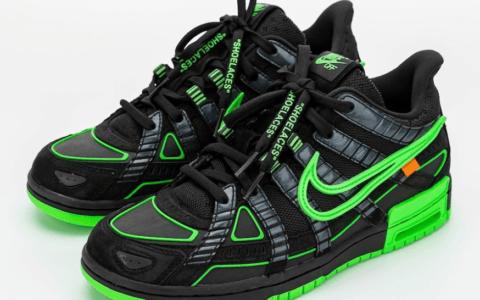 OW x Nike Air Rubber Dunk联名发售日期曝光!首发黑绿配色10月1日登场! 货号:CU6015-001