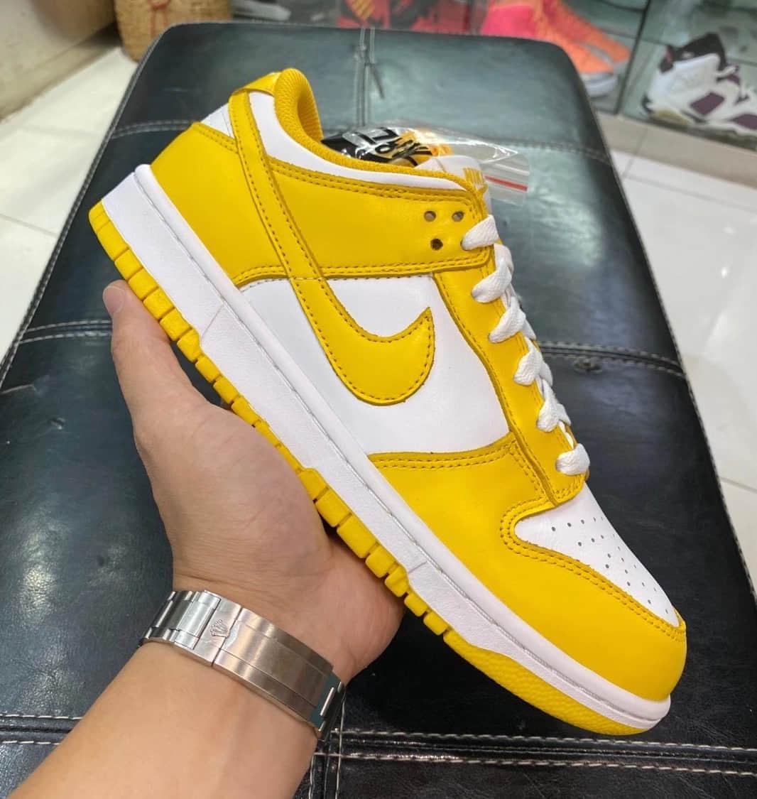 """活力白黄装扮!Nike Dunk Low WMNS"""" Laser Orange""""实物细节图释出! 货号:CU1726-901"""