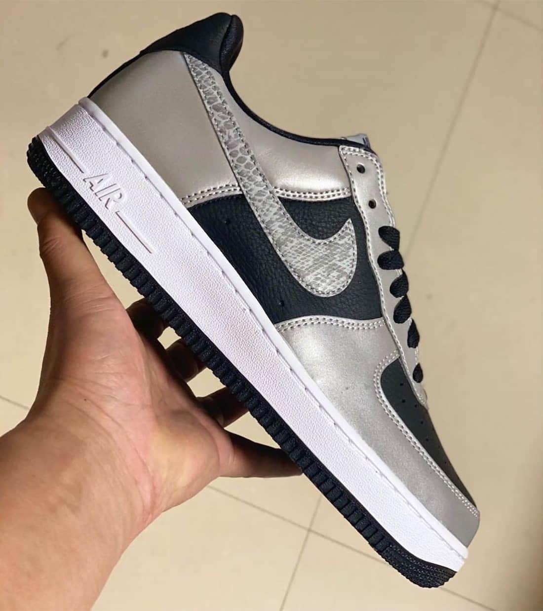 Nike AF1 B反光蛇纹明年回归!这个3M效果超酷! 货号:DJ6033-001