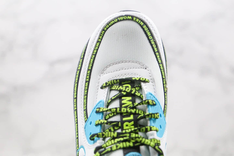 耐克Nike Air Max90 SE2 GS纯原版本复古气垫鞋Max90白蓝绿色原档案数据开发 货号:CV7665-100