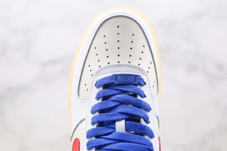 耐克NIKE Air force1纯原版本低帮空军一号白红蓝色解构主义风格板鞋内置全掌Sole气垫 货号:CT7875-994