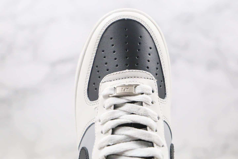 耐克Nike Air Force 1 Low纯原版本低帮空军一号米白黑灰色板鞋内置气垫原盒原标 货号:AH0287-211