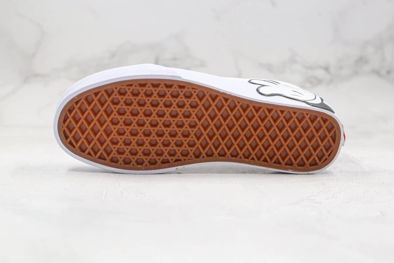 万斯Disney x Vans Old Skool公司级版本迪士尼米奇联名限量款低帮板鞋手掌纯白色高清洁工艺原厂硫化大底 货号:VN0A38G1UNC