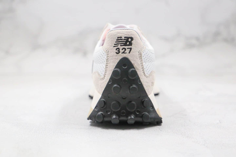新百伦New Balance 327纯原版本复古慢跑鞋NB327白黑色原楦头纸板打造 货号:MS327CBC