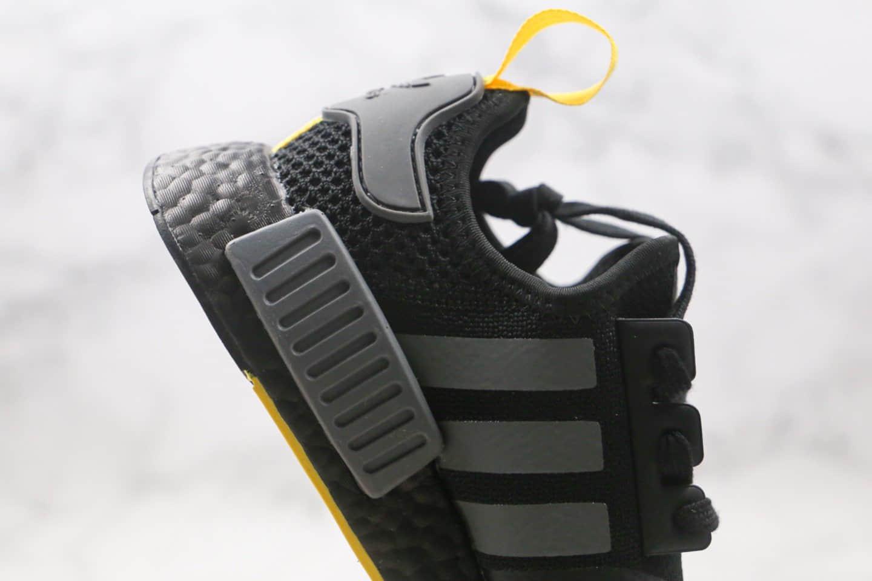 阿迪达斯adidas NMD R1公司级版本爆米花针织网面跑鞋黑灰色原楦开发 货号:B8303