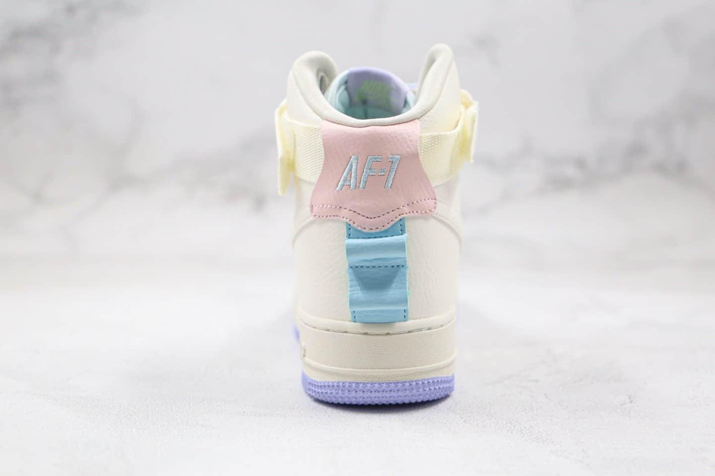 耐克Nike Air Force 1 Hi Ut纯原版本空军一号高帮AF1独角兽米白色原鞋开模 货号:CQ4810-111