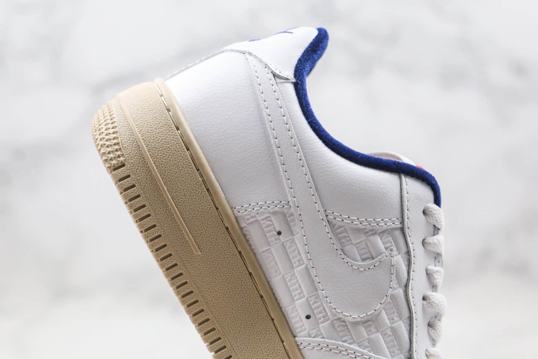 耐克Nike force 1 x KITH联名款纯原版本低帮空军一号白蓝色生较底板鞋内置全掌Sole气垫 货号:CZ7927-100