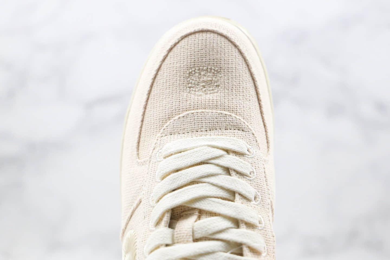 耐克Nike Air Force 1 Low Black Cool x Stussy联名款纯原版本低帮空军一号米白色麻布电绣勾板鞋原盒原标 货号:CZ9087-200