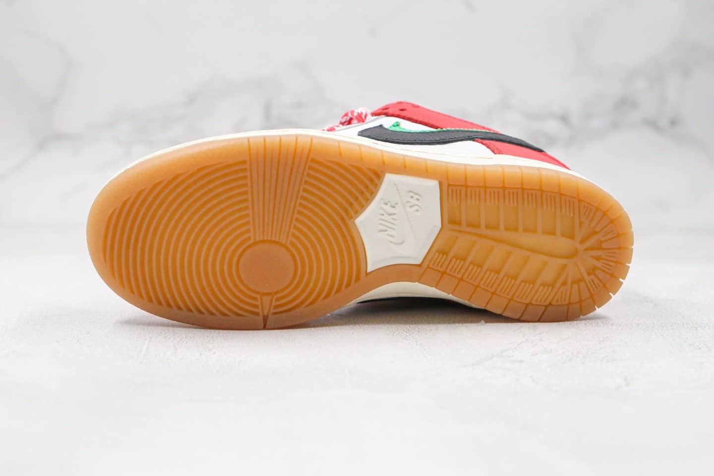 耐克Nike SB Dunk Low Habibi x Frame Skate联名款纯原版本低帮SB DUNK板鞋双钩白红色板鞋内置Zoom气垫原盒原标 货号:CT2550-600