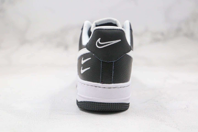 耐克Nike Air Force1 07 LOW纯原版本低帮空军一号双勾小勾黑白色板鞋内置气垫 货号:DC2300-001
