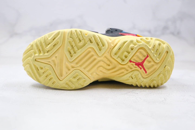乔丹Air Jordan Delta React Mid Off Noir x Union LA联名款纯原版本机能代尔塔结构瑞亚泡面黑蓝黄色原盒原标原档案数据开发 货号:DA1951-001