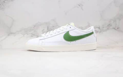 耐克Nike Blazer Low LE纯原版本低帮开拓者王一博同款白绿色原档案数据开发 货号:CI6377-108