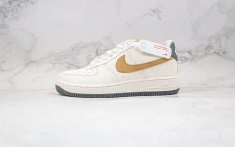 耐克Nike Air Force 1 Low纯原版本低帮空军一号米白绿灰色板鞋内置全掌Sole气垫 货号:318776-601