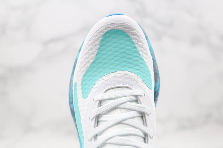 阿迪达斯Adidas AlphaBounce Beyond M纯原版本阿尔法12代爆米花跑鞋绿蓝色原楦头纸板打造 货号:CG3719