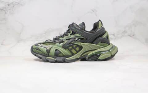 巴黎世家复古老爹鞋4.0黑绿色纯原版本出货