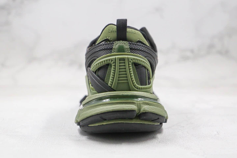 巴黎世家Balenciaga Track 4.0纯原版本复古老爹鞋四代黑绿色原鞋开模原盒配件齐全