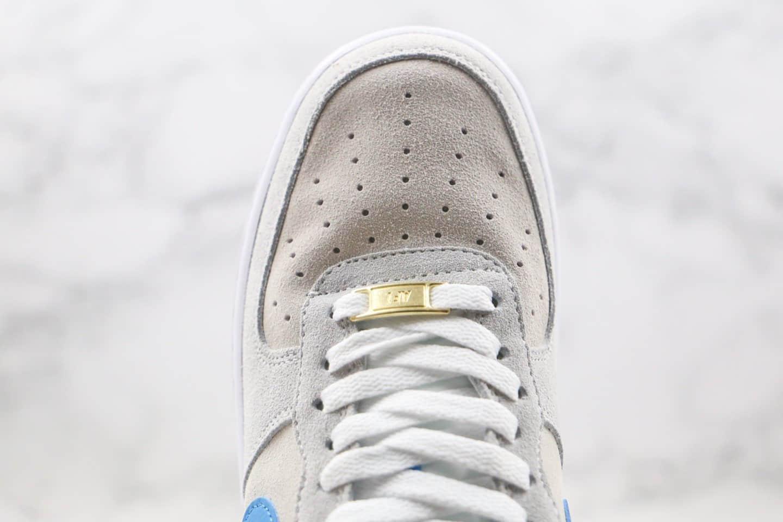 耐克Nike Air Force1 07 Low纯原版本低帮空军一号灰蓝色板鞋内置全掌Sole气垫 货号:CN0844-001