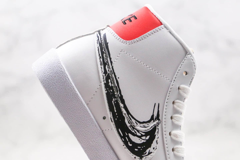 耐克Nike Blazer Mid VNTG 77纯原版本中帮开拓者涂鸦黑勾板鞋内置Zoom气垫 货号:CW7580-110